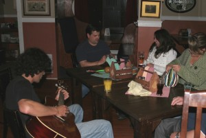 """Playing some tunes for """"Randy"""" of the Trailer Park Boys and some girls from Montreal."""