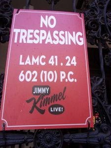 Kimmel don't like trespassers